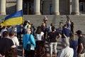 Winnipeg s ukrainian community rallies for jailed filmmaker august mb canada legislative building the canadian congress manitoba Royalty Free Stock Images