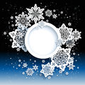 Winter abstract design with space for text Royalty Free Stock Photos