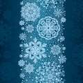 Winter abstract lace from snowflakes the strip for decoration theme holidays template frame design for card doily can be used for Stock Image