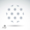 Winter Abstract Round Object W...