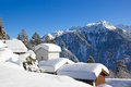 Winter in alps the swiss switzerland Royalty Free Stock Images