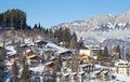 Winter in alps the swiss switzerland Stock Photography