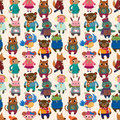 Winter animal seamless pattern Royalty Free Stock Image