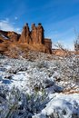 Winter in Arches National Park Royalty Free Stock Photo