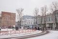 Winter.  Architecture the city Irkutsk Royalty Free Stock Photo