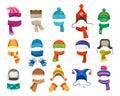 Winter or autumn headwear collection