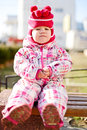 Winter baby girl wearing clothing Royalty Free Stock Photo