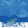 Winter background abstract vector blue with crystal triangle lattice Royalty Free Stock Photography