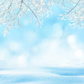 Winter background beautiful landscape with tree Stock Images