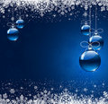 Winter background with christmas ball Royalty Free Stock Image