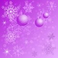 Winter background with different snowflakes and balls 2015