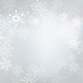 Winter background elegant made of snowflakes with blank space for your text Stock Photos