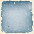 Winter background with falling snow grunge frame and old paper texture Stock Photo