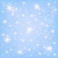 Winter background the falling snowflakes Stock Photography