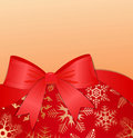 Winter background with red bow. eps10 Royalty Free Stock Images