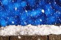 Winter background with snow fall Royalty Free Stock Photo