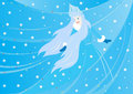 Winter background with the Snow Queen Royalty Free Stock Image