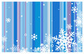 Winter background with snowflakes Stock Photography