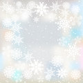 Winter background with snowflakes blurred Stock Image