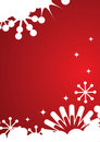 Winter background with snowflakes and stars Stock Images