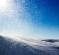 Winter background snowstorm and sun Royalty Free Stock Image