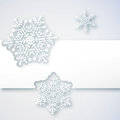 Winter background white with paper snowflakes the illustration contains transparency and effects eps Stock Image