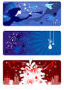 Winter backgrounds set Stock Photography