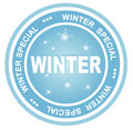 Winter badge Stock Photo