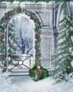 Winter balcony Royalty Free Stock Photo