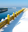 Winter Baltic jetty Stock Image
