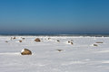 Winter at Baltic sea. Royalty Free Stock Photo