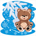 Winter bear Royalty Free Stock Photography