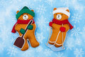 Winter Bears Royalty Free Stock Photography