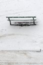 Winter bench. Royalty Free Stock Photography