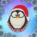 Winter Bird Little Santa Vector Image