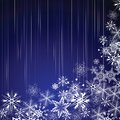 Winter blue background with snowflakes Royalty Free Stock Photography