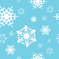 Winter - blue christmas seamless pattern Stock Photo