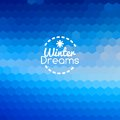 Winter blueprint blue abstract background christmas new year Royalty Free Stock Image