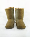 Winter Boots on snow Royalty Free Stock Photo