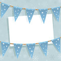 Winter bunting decoration Stock Photo