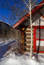 Winter Cabin Royalty Free Stock Photography