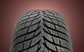 Winter car tire brand new modern Royalty Free Stock Image