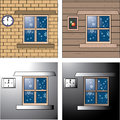 Winter card and background Royalty Free Stock Images
