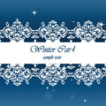 Winter card with classic elegant ornaments