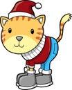Winter Cat Vector Illustration Royalty Free Stock Photo