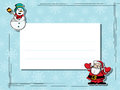 Winter celebration text card Stock Image