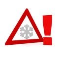 Winter check sign d rendered Royalty Free Stock Images