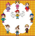 Winter children card Royalty Free Stock Photos