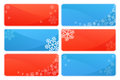 Winter and christmas backgrounds set of background themes with snowflakes Royalty Free Stock Image