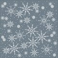 Winter, Christmas, Christmas background of white snowflakes on a pastel blue